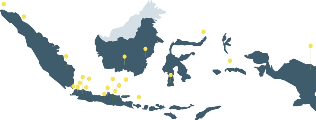 Peta Sebaran Layanan Aino Indonesia